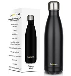 Vacuum Insulated Water Bottle 17 Oz Stainless Steel Travel Fitness Exercise Rest #Brimma