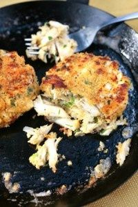 Cajun crab cakes. Cajun spices and crab meat -- how can this not be awesome!?!