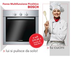 BOSCH HBA63B251 - #forno multifunzione #pirolitico, #inox. Tu cucini, lui si pulisce da solo. #cucina #ricette #aiutoincucina #recipes #tecnologiaincucina