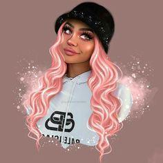 Black Girl Cartoon, Dope Cartoon Art, Cartoon Art Styles, Cute Girl Drawing, Cartoon Girl Drawing, Cartoon Drawings, Black Love Art, Black Girl Art, Dibujos Tumblr A Color