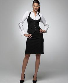 54 Best Woemn S Skirt Suit With Vest Images Jacket Jackets Vest Coat