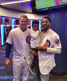 Derrick Rose visits the Cubs! 5/2016
