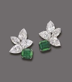 Dangle Earring Solid 925 Sterling silver Green Emerald Pear Wedding Jewelry Cz** #NIKIGEMS #DropDangle