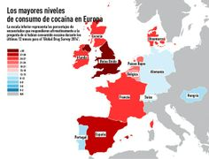 Europa, consumo de Cocaina