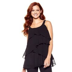 Antthony Casual and Colorful Tiered Blouse at HSN.com