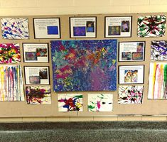 Myers' Kindergarten: Exploring Force and Motion: Physics Through Art Reggio Inspired Classrooms, Reggio Classroom, Kindergarten Activities, Art Activities, Reggio Emilia, Force And Motion, Art Area, E Mc2, Drip Painting