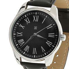 Quartz Wrist Watch Womens Men Black Dial Roman Numeral Eco Leather Band Hot Gift #ZIZ #ContemporaryDesign