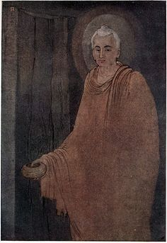 Abanindranath Tagore - Buddha As Medicant - Indian Painting Large Canvas Prints, Framed Art Prints, Fine Art Prints, Mark Rothko, Pablo Picasso, Buddha Art, Indian Artist, Indian Paintings, Art Paintings