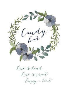 Elegant Wedding, Dream Wedding, Wedding Candy, Candy Buffet, Barista, Free Printables, Bohemian, Place Card Holders, Wisdom