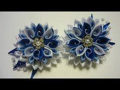 Коллекция красивых цветов канзаши*** - YouTube