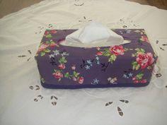 paars met roze rozen box