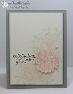 I used the Stampin' Up! So in Love and Falling For You stamp sets to create my card for the Happy Inkin' Thursday Blog Hop today.  We've got a color challenge and this is what I created for it.…