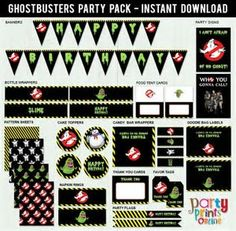 Image result for Ghostbusters Birthday Printables