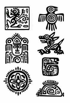 Items similar to Maya Aztec Set – Temporary tattoos (Choose your fav) on Etsy - tattoo tatuagem Inka Tattoo, Temporary Tattoos, Small Tattoos, Aztec Symbols, Viking Symbols, Egyptian Symbols, Viking Runes, Ancient Symbols, Motifs Aztèques