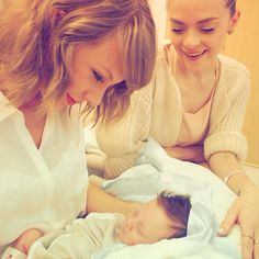 Taylor Swift meeting her godson Leo Thames Newman
