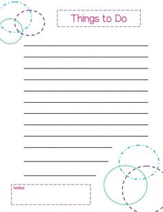 Free printable to do lists cute colorful templates free free printable to do lists cute colorful templates pronofoot35fo Images