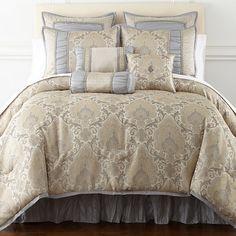 249 99 J Queen New York Valdosta Aqua Comforter Set