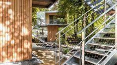 holzplatten Baumhaus berlin baumhaushotel treppe