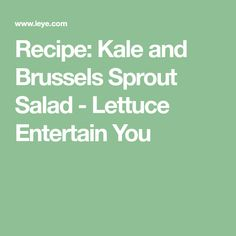 Recipe: Kale and Bru