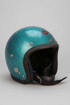 Vintage '70s Teal Sparkle Novelty Helmet
