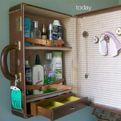 Salvaged Medicine Cabinets From Vintage Suitcases   EcoSalon   Conscious Culture and Fashion