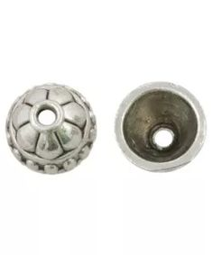 Beadcap (8 x 8 x 5 mm) 25 Stuks (Antiek Zilver)