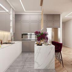 Kitchen Design Open, Luxury Kitchen Design, Luxury Kitchens, Interior Design Kitchen, Open Kitchen, Kitchen Designs, Home Design, Home Decor Kitchen, Kitchen Furniture