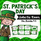 #filluponluck St. Patrick's Day Math Solve the Room Task Cards