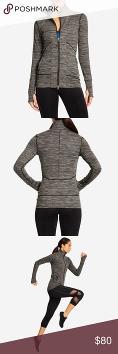 Yogasmoga carbon zip up. New with tags! Yogasmoga classic zip up offers well thought out design details like a double ended zipper, multiple pockets, and thumb holes which make it the perfect multi-use jacket. New with tags! Yogasmoga Tops Sweatshirts & Hoodies