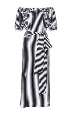 Marina Off The Shoulder Dress by MDS STRIPES for Preorder on Moda Operandi