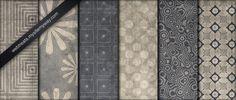 Blue and Beige Patterns Part 3 by WebTreatsETC