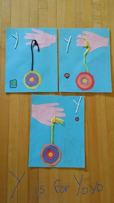 Y is for Yoyo Preschool Letter Crafts, Alphabet Letter Crafts, Abc Crafts, Preschool Projects, Classroom Crafts, Alphabet Activities, Classroom Fun, Preschool Activities, Preschool Curriculum
