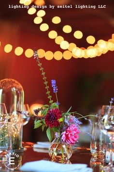 Bistro lights provide background sparkle in detail photographs. Bistro Lights, Lighting Design, Getting Married, Cool Pictures, My Design, Table Decorations, Flowers, Photographs, Sparkle