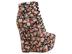 Jeffrey Campbell Damsel Floral in Red Black Floral Fab at Solestruck.com $189.95
