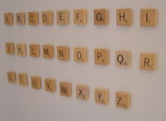 Make scrabble letter magnets for kids to write words with!