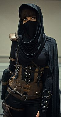 If I had to wear #hijab, i'd look like this all day. #badass  Amber Casey Thief's Garrett Cosplay. Article in Eidos Montreal: Community