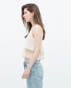Image 2 of CROCHET TOP from Zara