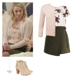 Betty Cooper - Riverdale by shadyannon on Polyvore featuring polyvore fashion style Pure Collection Apricot Chicwish Cleo B Alex Monroe clothing