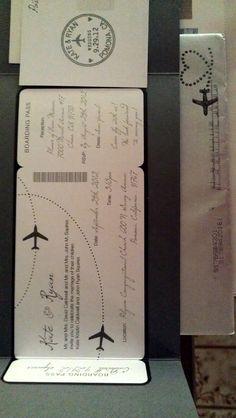 Aviation themed wedding invitations