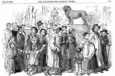 Agricultural workers and their families at the Great Exhibition of 1851 in the Crystal Palace.