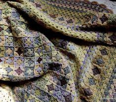 crochet.  tiny grannies.  afghan, blanket.