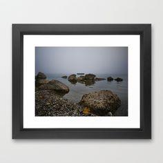 Foggy Lake Chiemsee Framed Art Print by Rainer Steinke - $40.00 fog water lake bavaria rocks stones nebel wasser see bayern steine felsen  #fog #water #lake #bavaria #rocks #stones #nebel #wasser #see #bayern #steine #felsen