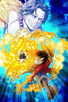 Ace & Luffy - One Piece Thousand Storm One Piece World, One Piece Ace, One Piece Luffy, Art Anime, Anime One, Manga Anime, Portgas Ace, One Piece Seasons, One Piece Manga