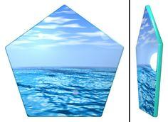 Sea Pentagon Coaster / #Tableware