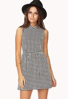 Mod Houndstooth Dress | FOREVER21 - 2000051966