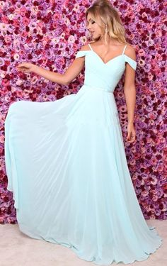 A Line Off Shoulder Prom Dresses, Sexy Chiffon Light Blue Long Evening Dress Baby Blue Prom Dresses, Straps Prom Dresses, A Line Prom Dresses, Ball Dresses, Pretty Dresses, Homecoming Dresses, Beautiful Dresses, Bridesmaid Dresses, Pastel Prom Dress