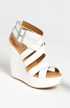 Stylish White Wedges