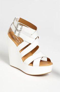 Stylish White Wedges