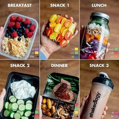 Quick and Simple 21 Day Fix Meal Prep for the - Calorie Level / Breakfast: 1 cup oatmeal (made from ½ cup rolled oats) with 3 tsp. peanut butter and 1 cup fresh berries purple, 2 yellow, 3 tsp.) Snack Avocado Toast with Tomatoes made wit Healthy Drinks, Healthy Eating, Healthy Food Prep, How To Eat Healthy, Easy Healthy Lunch Ideas, Healthy Smoothie Recipes, Simple Healthy Meals, Healthy Late Night Snacks, Healthy Carbs