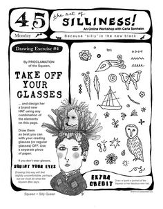 Online Class - 30 SILLY Drawing Worksheets PDF. $25.00, via Etsy.
